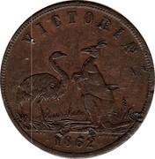 Australia 1 Penny 1862 KM# Tn15 Private Token issues VICTORIA 1862 coin obverse