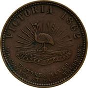 Australia 1 Penny 1862 KM# Tn236.2 Private Token issues VICTORIA 1862 coin obverse