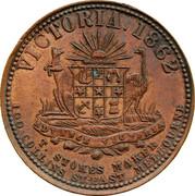 Australia 1 Penny 1862 KM# Tn236.1 Private Token issues VICTORIA 1862 coin obverse