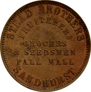 Australia 1 Penny 1862 KM# Tn214 Private Token issues STEAD BROTHERS coin obverse