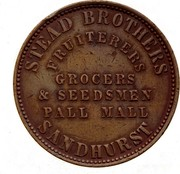 Australia 1 Penny 1862 KM# Tn213 Private Token issues STEAD BROTHERS coin obverse