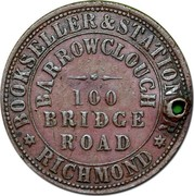 Australia 1 Penny 1862 KM# Tn19.1 Private Token issues BOOKSELLER&STATION RICHMOND BARROWCLOUCH 100 BRIDGE ROAD coin obverse