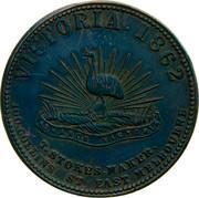 Australia 1 Penny 1862 KM# Tn257 Private Token issues VICTORIA 1862 T. STOKES MAKER 100 COLLINS ST. EAST MELBOURNE coin reverse