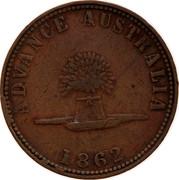 Australia 1 Penny 1862 KM# Tn241 Private Token issues ADVANCE AUSTRALIA 1862 coin reverse