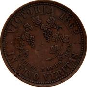 Australia 1 Penny 1862 KM# Tn242 Private Token issues VICTORIA 1862 coin reverse