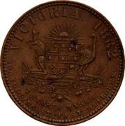 Australia 1 Penny 1862 KM# Tn240 Private Token issues VICTORIA 1862 ADVANCE VICTORIA T. STOKES MAKER 100 COLLINS ST EAST MELBOURNE coin reverse