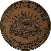 Australia 1 Penny 1862 KM# Tn235 Private Token issues VICTORIA 1862 coin reverse