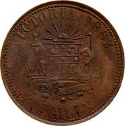 Australia 1 Penny 1862 KM# Tn221.2 Private Token issues VICTORIA. 1862 coin reverse