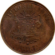 Australia 1 Penny 1862 KM# Tn221.1 Private Token issues VICTORIA. 1862 coin reverse