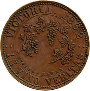 Australia 1 Penny 1862 KM# Tn231 Private Token issues VICTORIA 1862 IN VINO VERITAS coin reverse