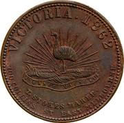 Australia 1 Penny 1862 KM# Tn225.2 Private Token issues VICTORIA 1862 coin reverse