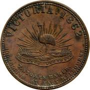 Australia 1 Penny 1862 KM# Tn225.1 Private Token issues VICTORIA 1862 coin reverse