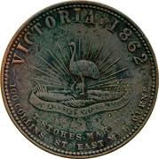Australia 1 Penny 1862 KM# Tn222 Private Token issues VICTORIA. 1862 coin reverse