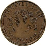 Australia 1 Penny 1862 KM# Tn205 Private Token issues VICTORIA 1862 coin reverse