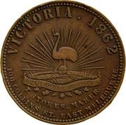 Australia 1 Penny 1862 KM# Tn203 Private Token issues VICTORIA coin reverse