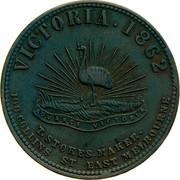 Australia 1 Penny 1862 KM# Tn200 Private Token issues VICTORIA. 1862 coin reverse