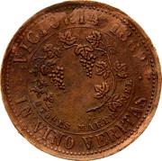 Australia 1 Penny 1862 KM# TnF201 Private Token issues VICTORIA. 1862 IN VINO VERITAS T. STOKES MAKER coin reverse