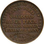 Australia 1 Penny 1862 KM# Tn190 Private Token issues VICTORIA 1862 coin reverse