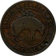 Australia 1 Penny Davies Alexander (Goulburn) ND KM# Tn48 DAVIES ALEXANDER & CO GOULBURN coin obverse