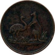 Australia 1 Penny G. Hutton (Hobart town) ND KM# Tn131 - coin reverse
