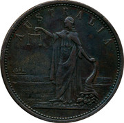 Australia 1 Penny ND KM# Tn135 Private Token issues ESTABLISHED 1820 IREDALE & CO. SYDNEY IRON MERCHANTS AND GENERAL IRONMONGERS coin obverse