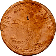 Australia 1 Penny ND KM# Tn286.3 Unnamed Token Issues NEW SOUTH WALES coin reverse