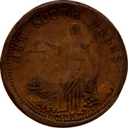 Australia 1 Penny ND KM# Tn286.4 Unnamed Token Issues NEW SOUTH WALES coin reverse