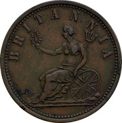 Australia 1 Penny ND KM# Tn280 Foreign Token issues BRITANNIA coin reverse