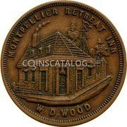 Australia 1 Penny ND KM# Tn274 Private Token issues MONTPELLIER RETREAT INN W.D.WOOD coin reverse