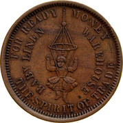 Australia 1 Penny ND KM# Tn265 Private Token issues FOR READY MONEY THE SPIRIT OF TRADE BABY LINEN WAREHOUSE coin reverse