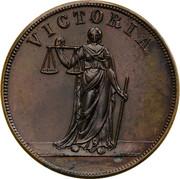 Australia 1 Penny ND KM# Tn197.1 Private Token issues VICTORIA coin reverse