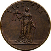 Australia 1 Penny ND KM# Tn197.2 Private Token issues VICTORIA coin reverse