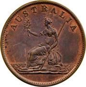 Australia 1 Penny ND KM# Tn186 Private Token issues AUSTRALIA coin reverse