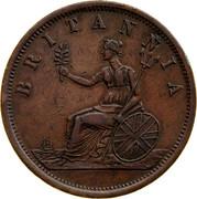 Australia 1 Penny ND KM# Tn182.2 Private Token issues BRITANNIA coin reverse