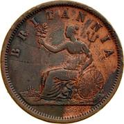 Australia 1 Penny ND KM# Tn182.1 Private Token issues BRITANNIA coin reverse