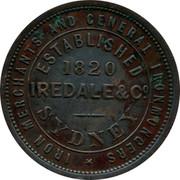 Australia 1 Penny ND KM# Tn135 Private Token issues AUSTRALIA coin reverse
