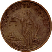 Australia 1 Penny Whitty & Brown Makers (Sydney) ND KM# Tn271 NEW SOUTH WALES coin reverse