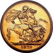 Australia 1 Sovereign Victoria St. George Sovereign 1876M KM# 7 B.P. coin reverse