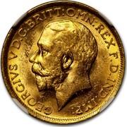Australia 1 Sovereign George V 1913 KM# 29 GEORGIVS V D.G.BRITT:OMN:REX F.D.IND:IMP: B.M. coin obverse