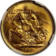 Australia 1 Sovereign George V 1913 KM# 29 M 1911 B.P. coin reverse