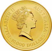 Australia 10,000 Dollars (The Australian Kangaroo) KM# 152 ELIZABETH II AUSTRALIA 10,000 DOLLARS RDM coin obverse