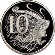 Australia 10 Cents Lyrebird 1984 Proof KM# 65 10 SD coin reverse