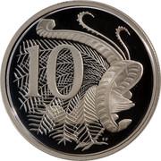 Australia 10 Cents Lyrebird 1991 Proof KM# 81a 10 SD coin reverse