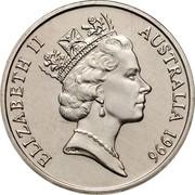 Australia 10 Cents Lyrebird 1996 Proof KM# 81 ELIZABETH II AUSTRALIA *YEAR* RDM coin obverse