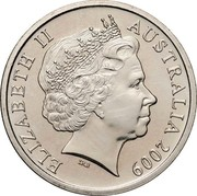 Australia 10 Cents Lyrebird 2009 Proof KM# 402 ELIZABETH II AUSTRALIA *YEAR* IRB coin obverse