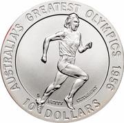 Australia 10 Dollars Betty Cuthbert 1996 KM# 315 AUSTRALIA'S GREATEST OLYMPICS 1956 BETTY CUTHBERT 10 DOLLARS HH coin reverse