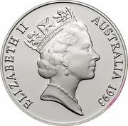 Australia 10 Dollars Cockatoo 1993 KM# 221 ELIZABETH II AUSTRALIA 1993 RDM coin obverse