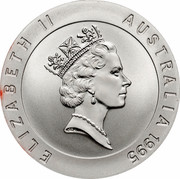 Australia 10 Dollars Dawn Fraser 1995 KM# 301 ELIZABETH II AUSTRALIA 1995 RDM coin obverse