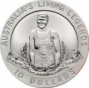 Australia 10 Dollars Dawn Fraser 1995 KM# 301 AUSTRALIA'S LIVING LEGENDS DAWN FRASER 10 DOLLARS HH coin reverse