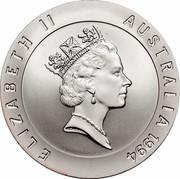 Australia 10 Dollars Edwin Flack 1994 KM# 225 ELIZABETH II AUSTRALIA 1994 RDM coin obverse